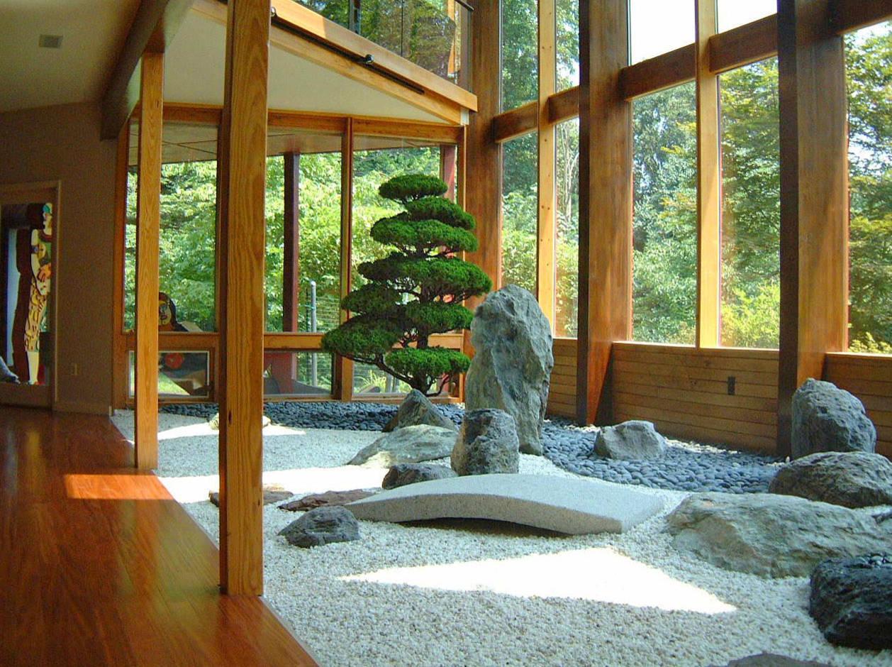 Jardin zen estilo oriental