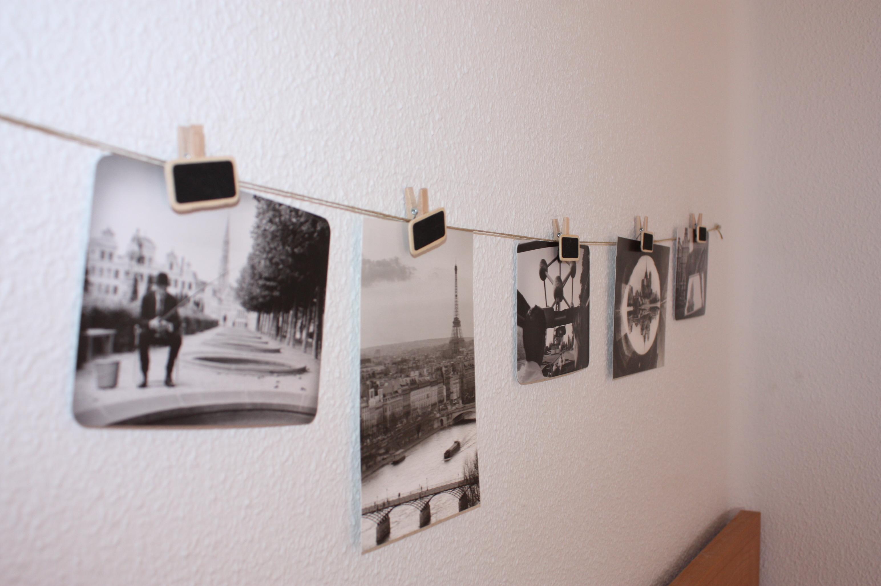 fotografías cogidas con pinzas estilo vintage