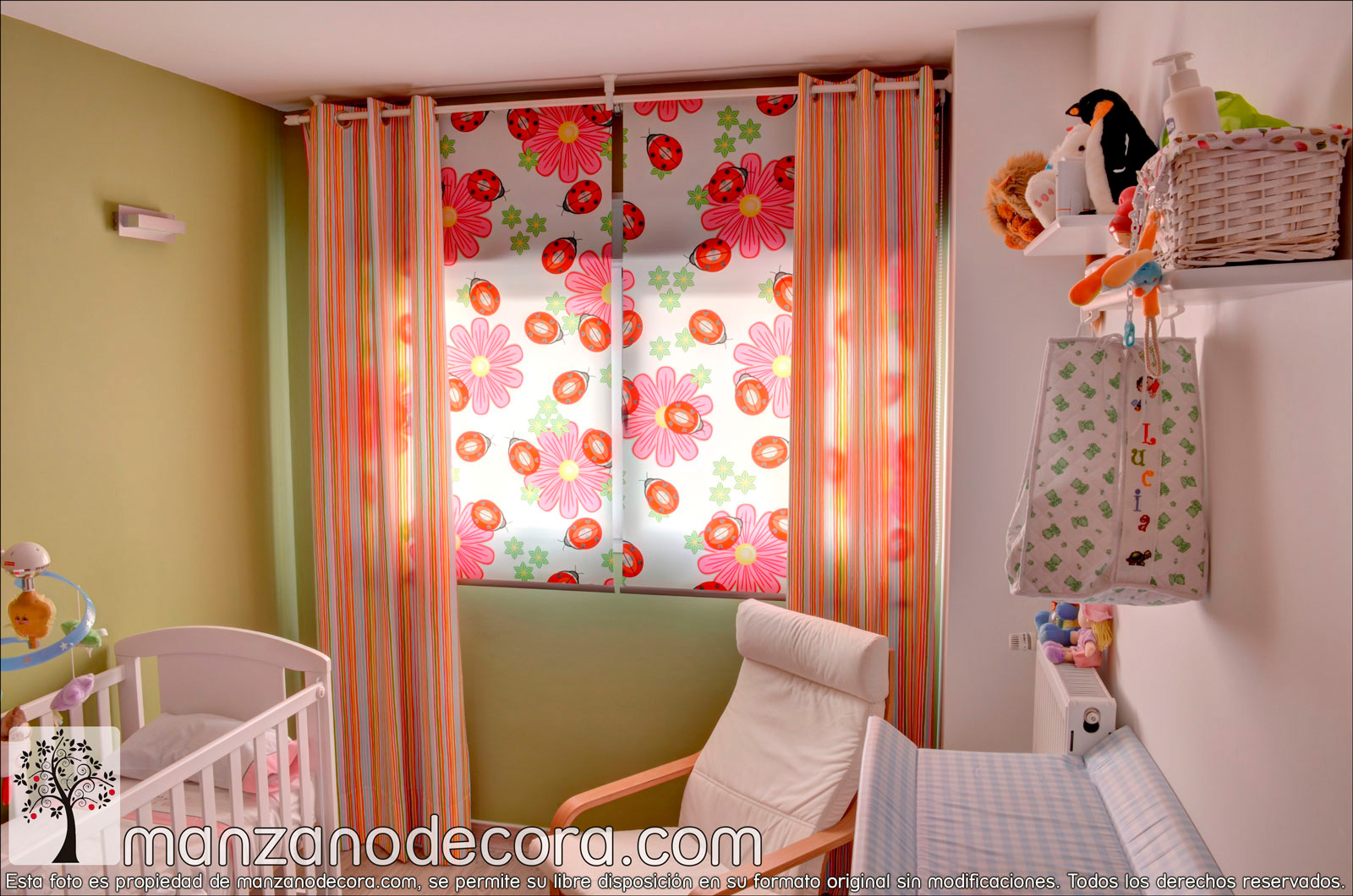 Cortinas para nios decoracion seguryy pc m x m impresin for Cortinas infantiles nina