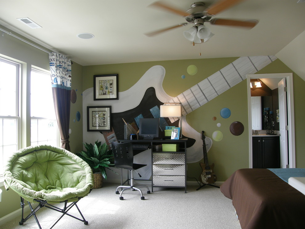 dormitorio juvenil para música rock