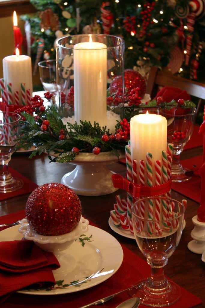 velas de navidad decoración