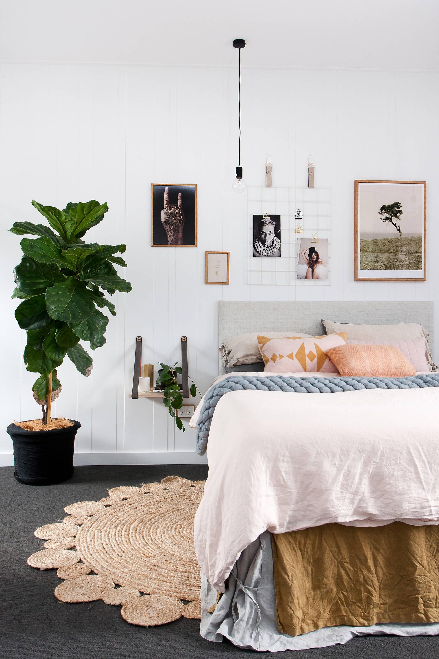 decoración con alfombras en dormitorio