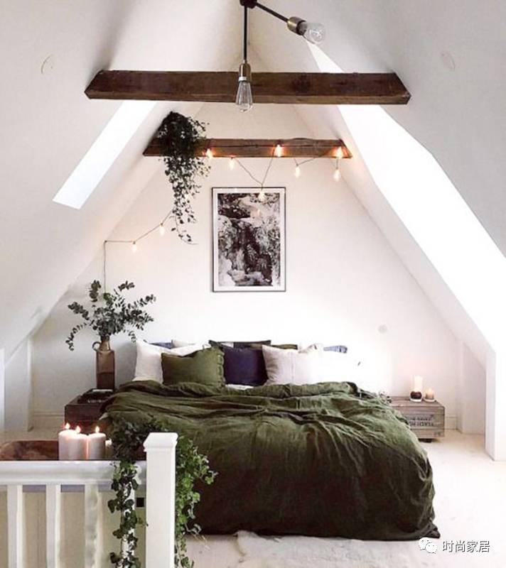 dormitorio con madera y blanco