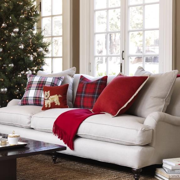 Sofá decoración navideña