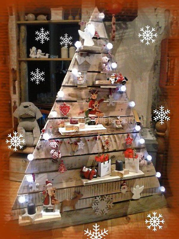 árbol de navidad DIY palets