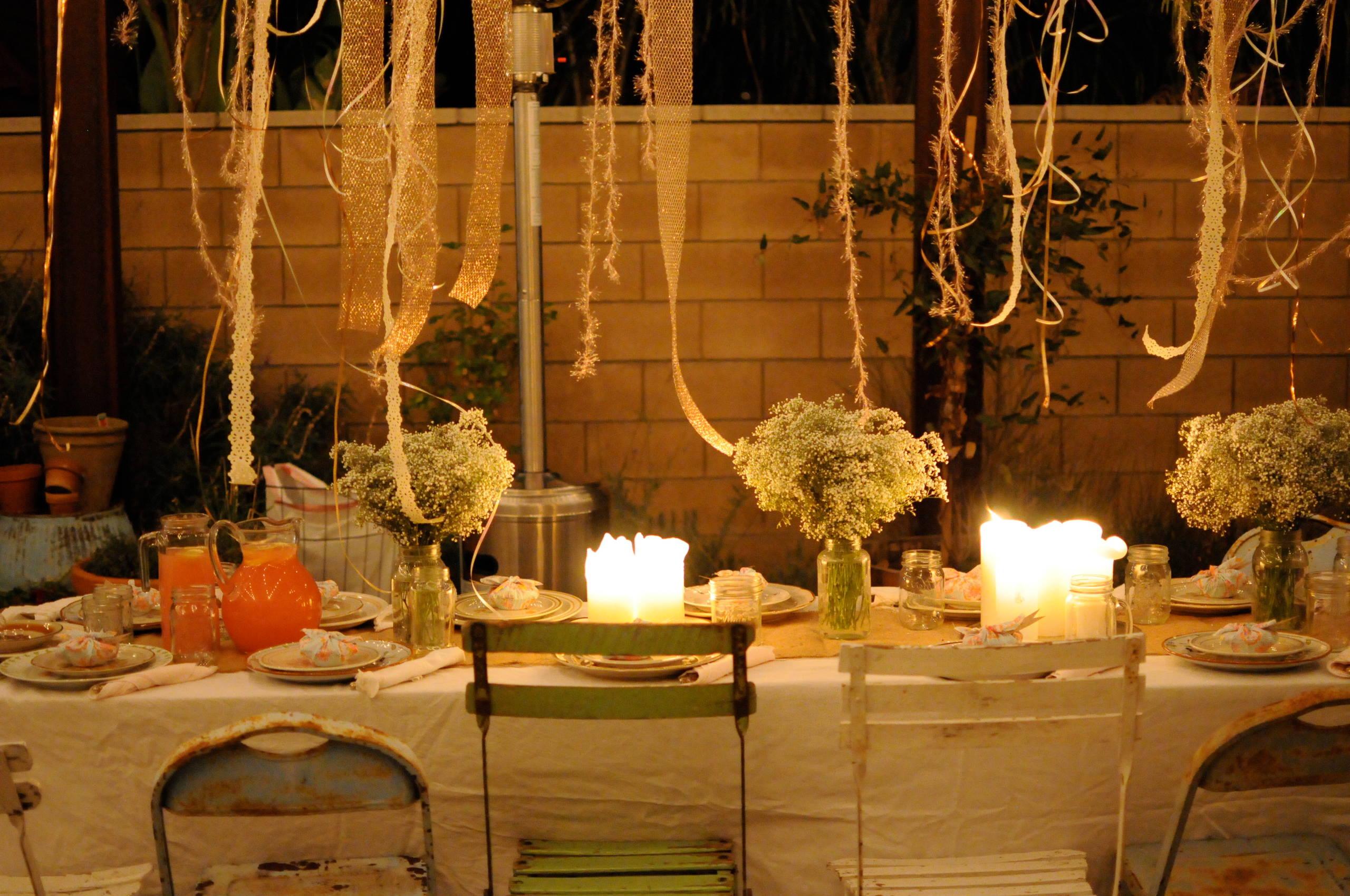 decoración velas para fiestas