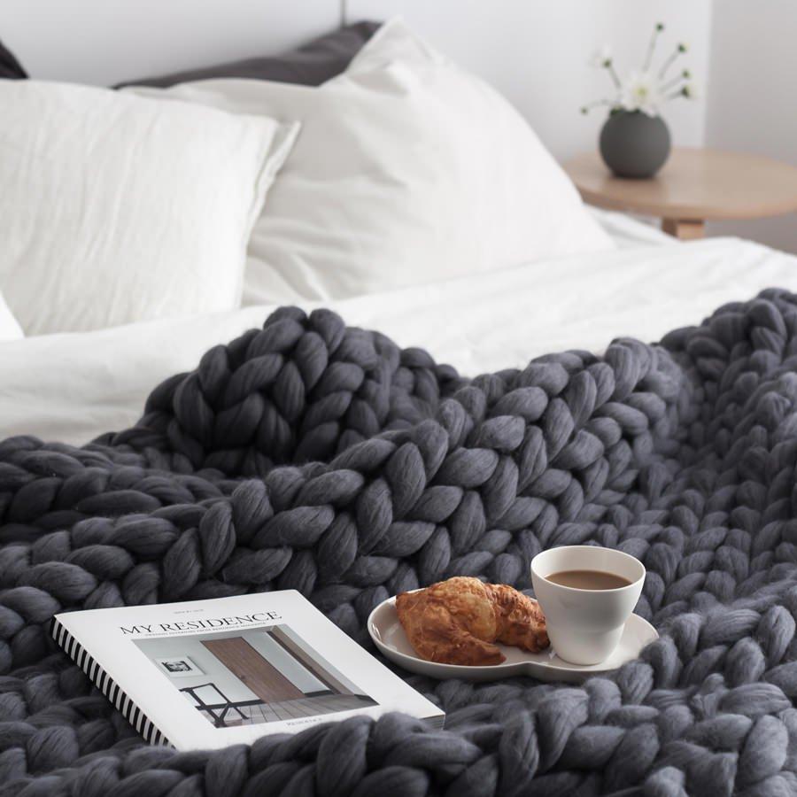 Foto de Ohhio.com - Mantas de lana DIY