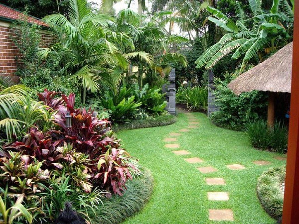 Decoracion jardin tropical
