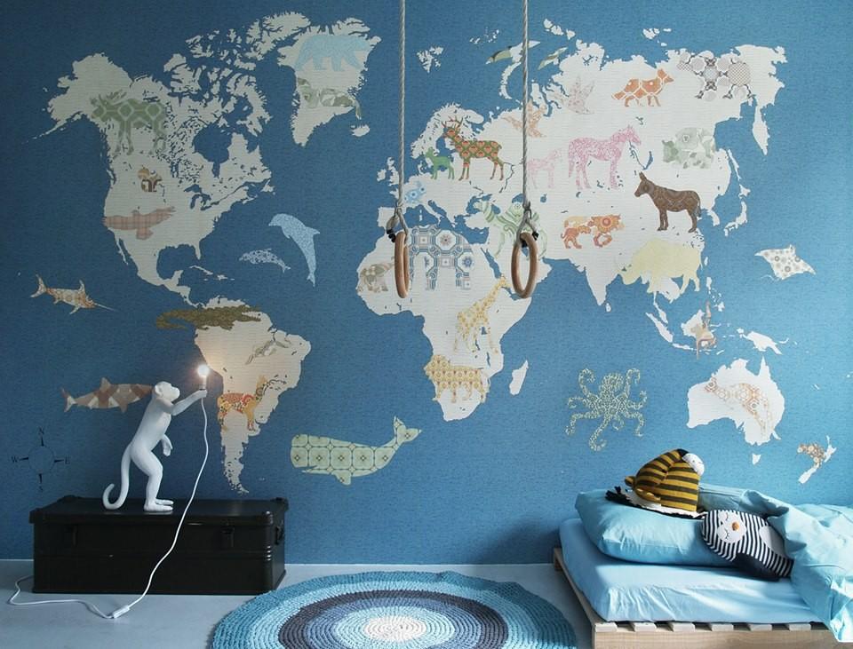 Papeles pintados. mapa
