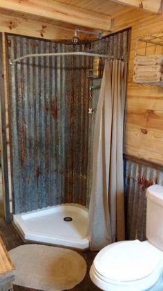 decoración de baños rústicos ducha