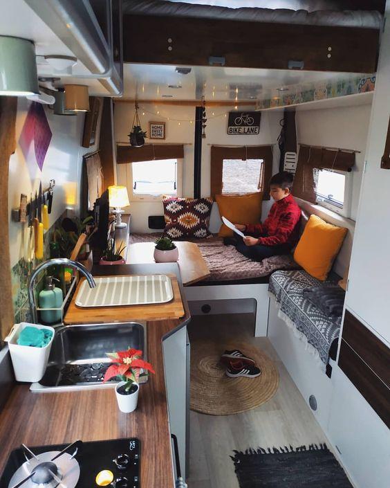 Decoración de caravanas, aprovechar espacio