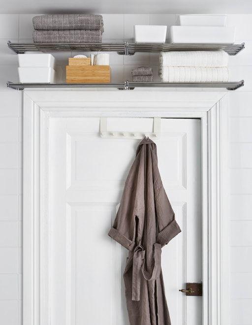 Organización de los baños, balda