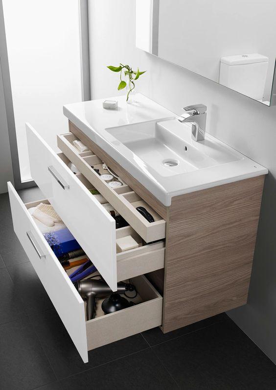 Organización de los baños, cajones integrales