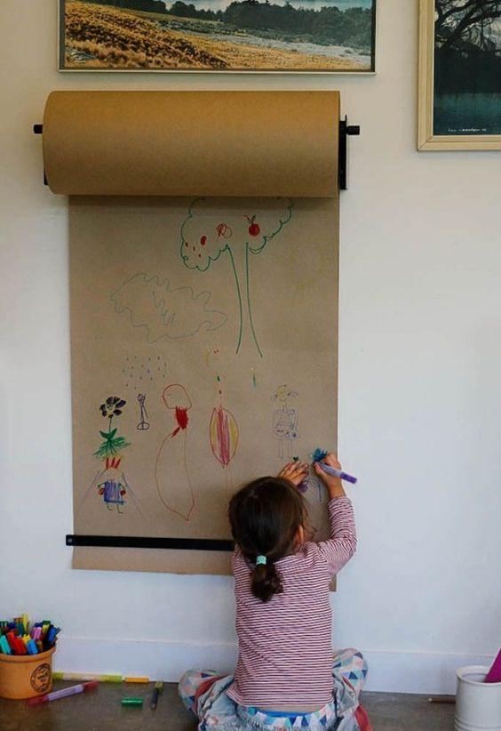 habitación infantil pizarra