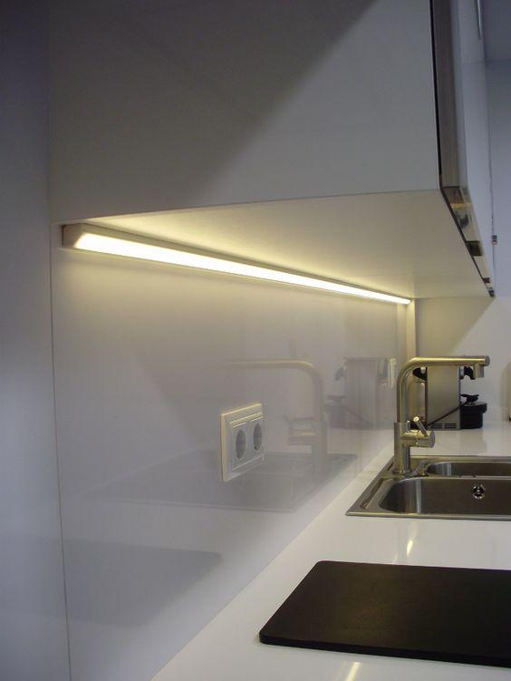 iluminacion led en la cocina