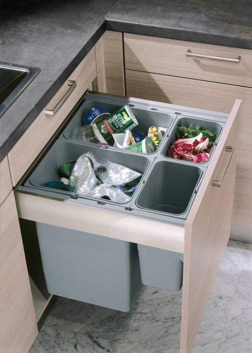 cubo de basura para reciclar
