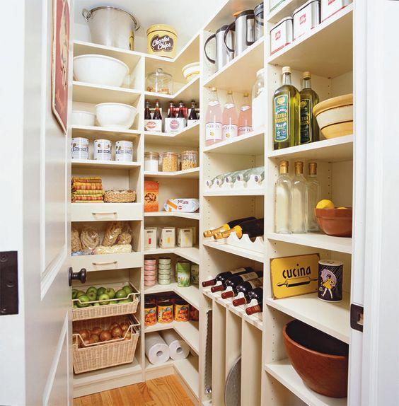 organización de cocinas, despensa