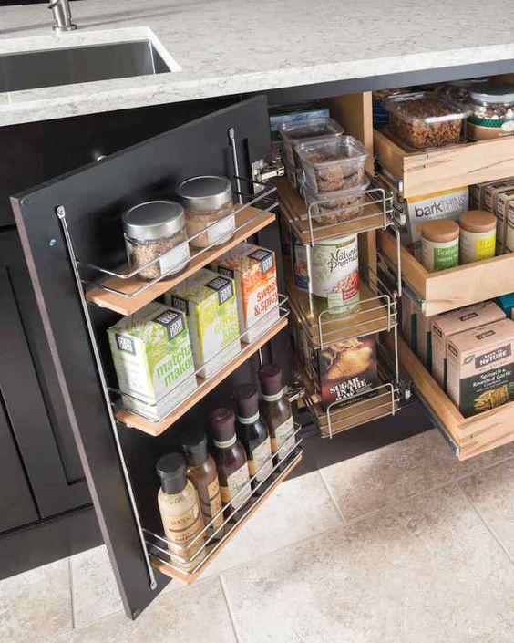 organización de cocinas, aprovechar espacio