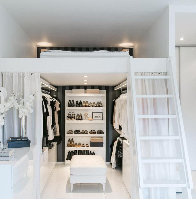 Cama de estilo para un loft